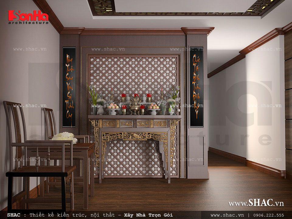 Mẫu nội thất phòng thờ đẹp