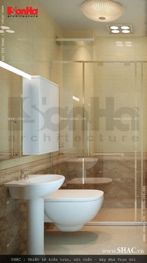 Thiết kế nội thất phòng WC đẹp