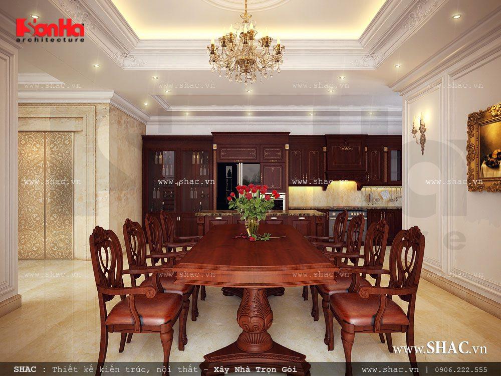 Thiết kế phòng ăn nội thất gỗ đẹp