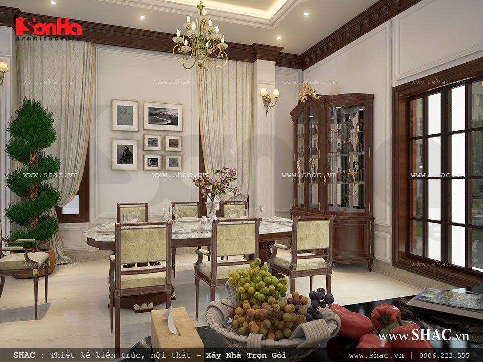 Thiết kế phòng ăn theo phong cách á âu