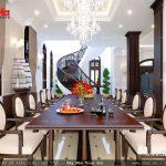 Mẫu bàn ăn dài trong phòng ăn
