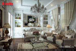 Phòng khách cổ điển kiểu Pháp