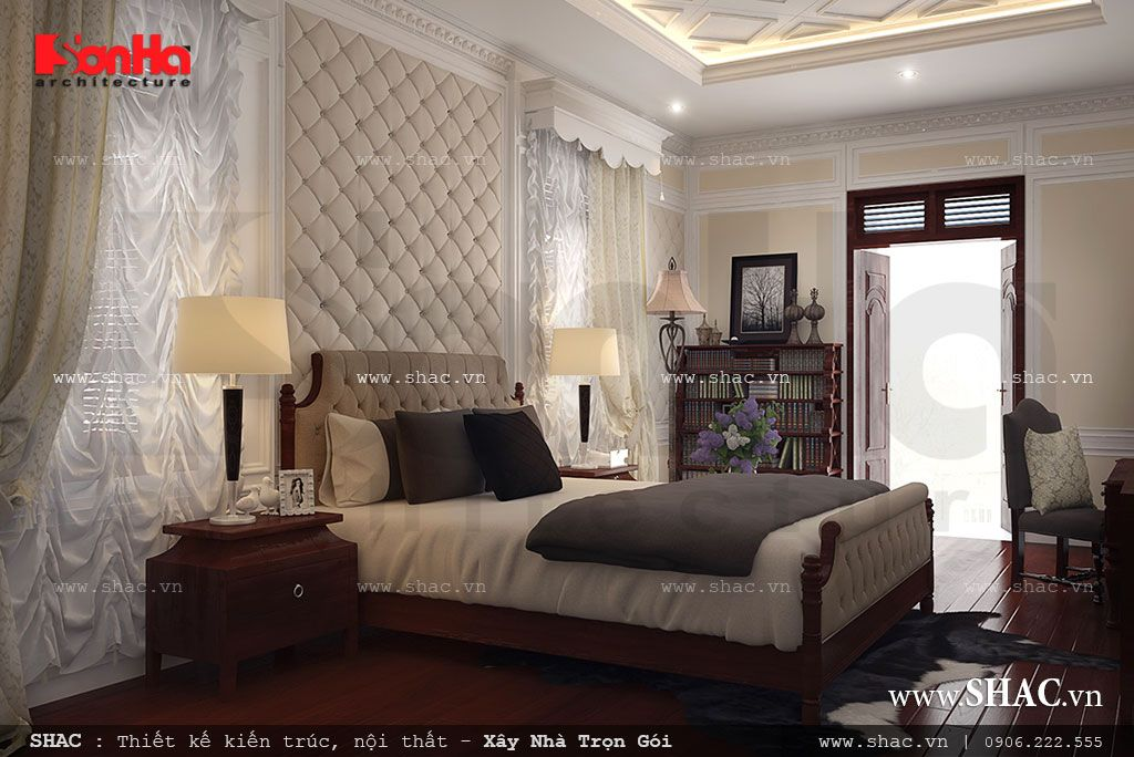 Phòng ngủ đẹp thiết kế theo phong cách châu âu