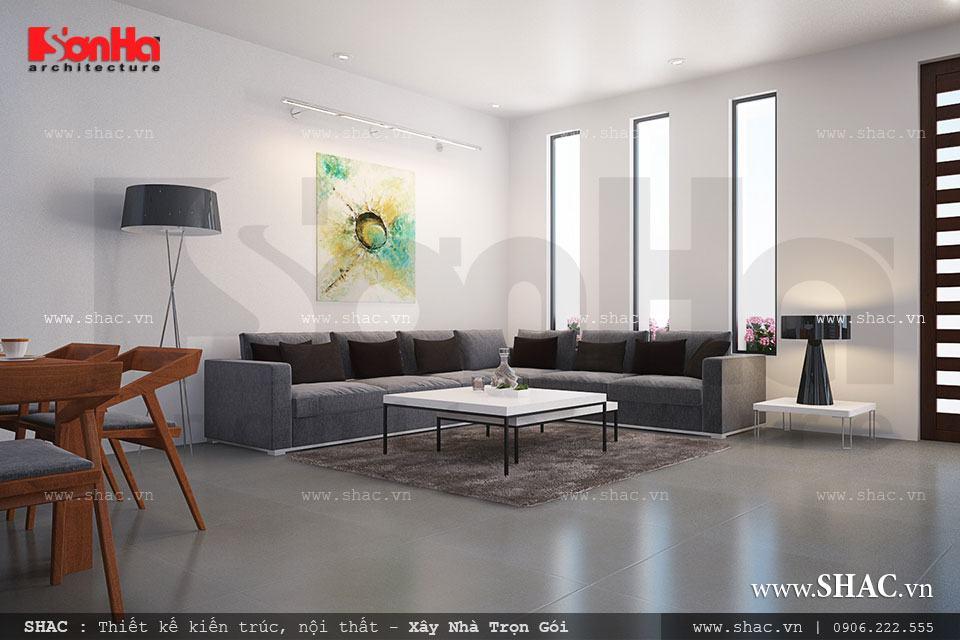 Nội thất phòng khách hiện đại đơn giản
