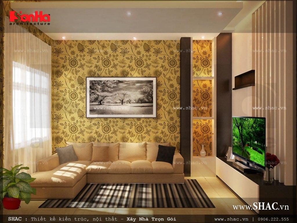 Phòng khách không gian hẹp