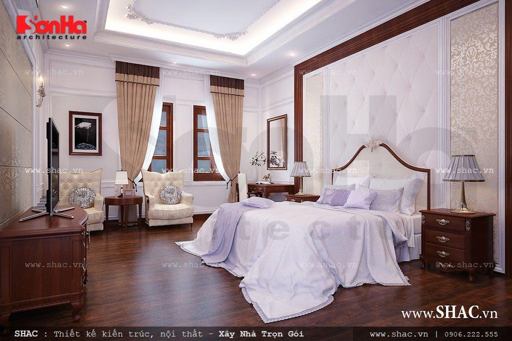 Thiết kế phòng ngủ đẹp cho biệt thự