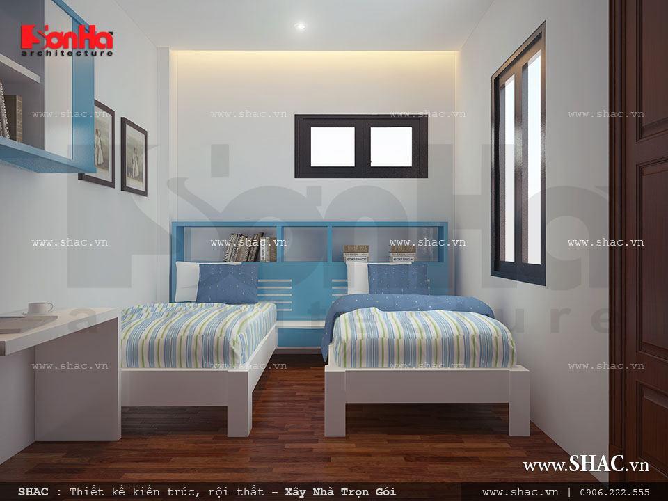 Phòng ngủ cho con giường đôi