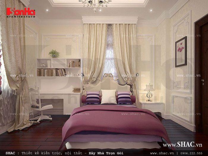 Mẫu phòng ngủ con gái xinh xắn với thiết kế nội thất tiện nghi phù hợp không gian phòng
