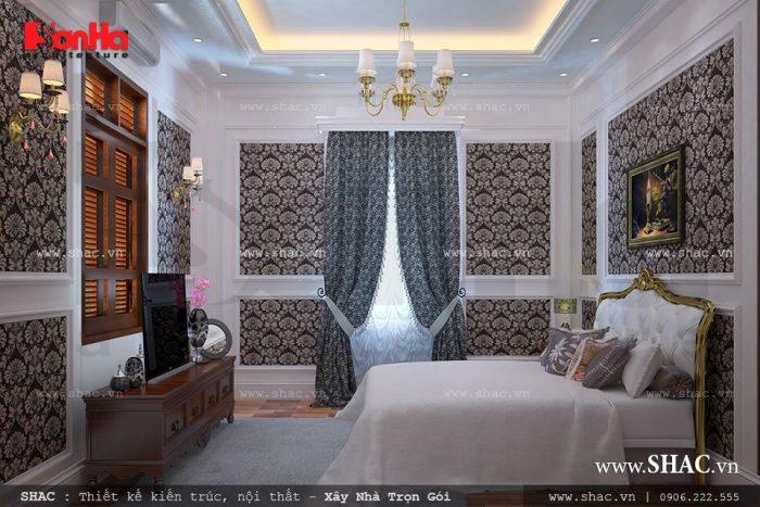 Không gian nội thất cổ điển cho phòng ngủ biệt thự thêm hoàn hảo