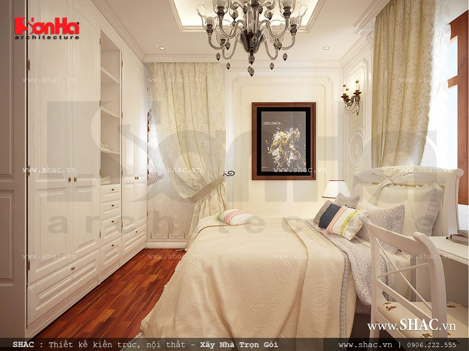 Thiết kế phòng ngủ cổ điển kiểu Châu Âu
