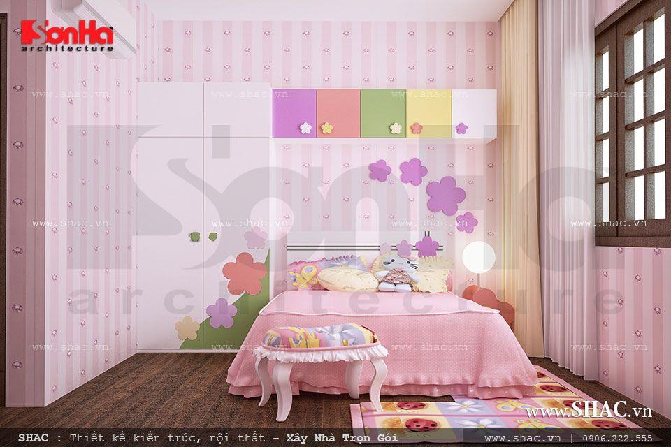 Mẫu phòng ngủ cho con gái đẹp