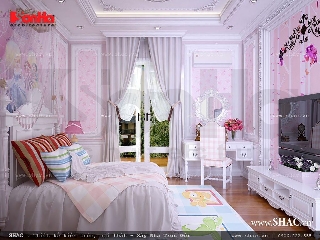Phòng ngủ đẹp cho cô công chúa nhỏ