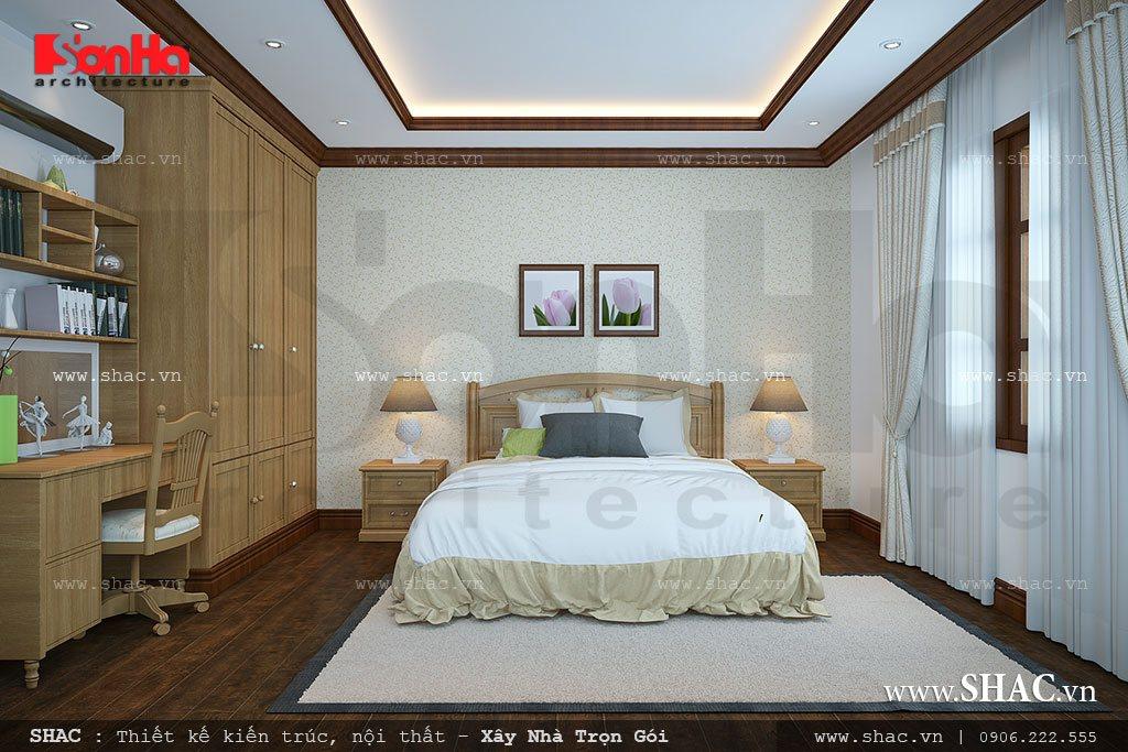 Thiết kế phòng ngủ đẹp cho nhà ống tân cổ điển