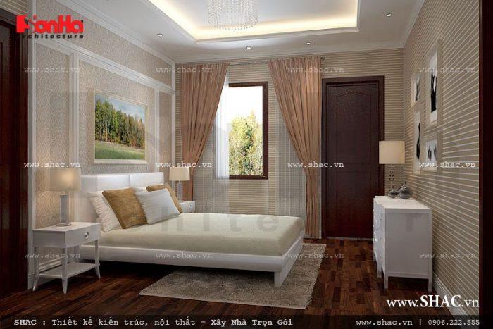Thiết kế nội thất phòng ngủ đơn giản nhưng vẫn mang nét đẹp riêng và phong cách riêng của chủ nhân căn phòng