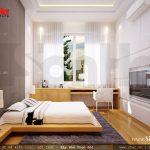 Phòng ngủ hiện đại cửa sổ rộng