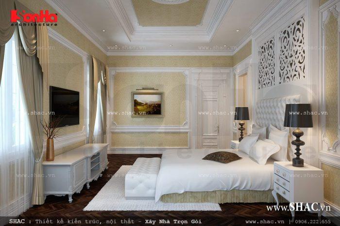 Mẫu thiết kế nội thất phòng ngủ kiểu Pháp đơn giản mà lịch thiệp