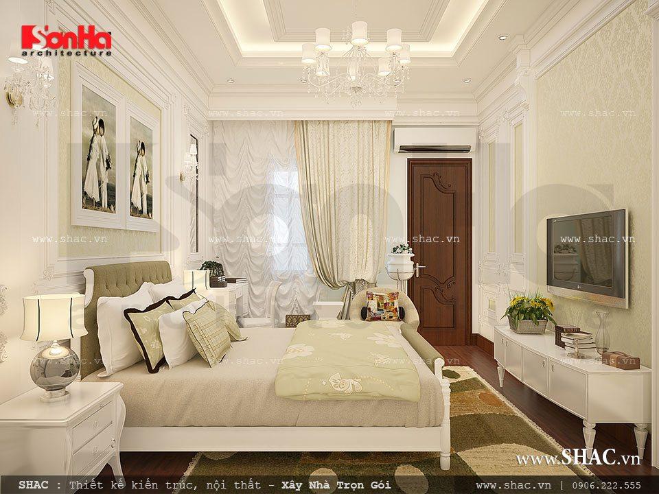 Phòng ngủ kiểu Pháp đơn giản
