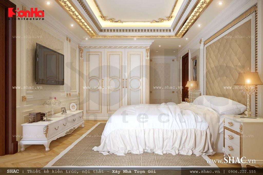 Mẫu phòng ngủ kiểu cổ điển nhẹ nhàng