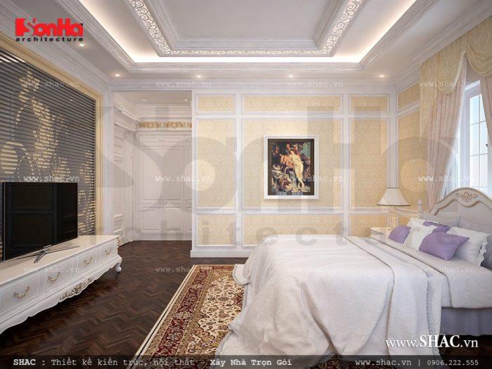 Mẫu phòng ngủ nhã nhặn với thiết kế nội thất cổ điển đẹp