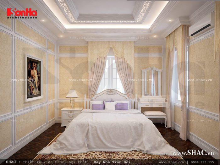 Phòng ngủ sang trọng phong cách Pháp nhẹ nhàng