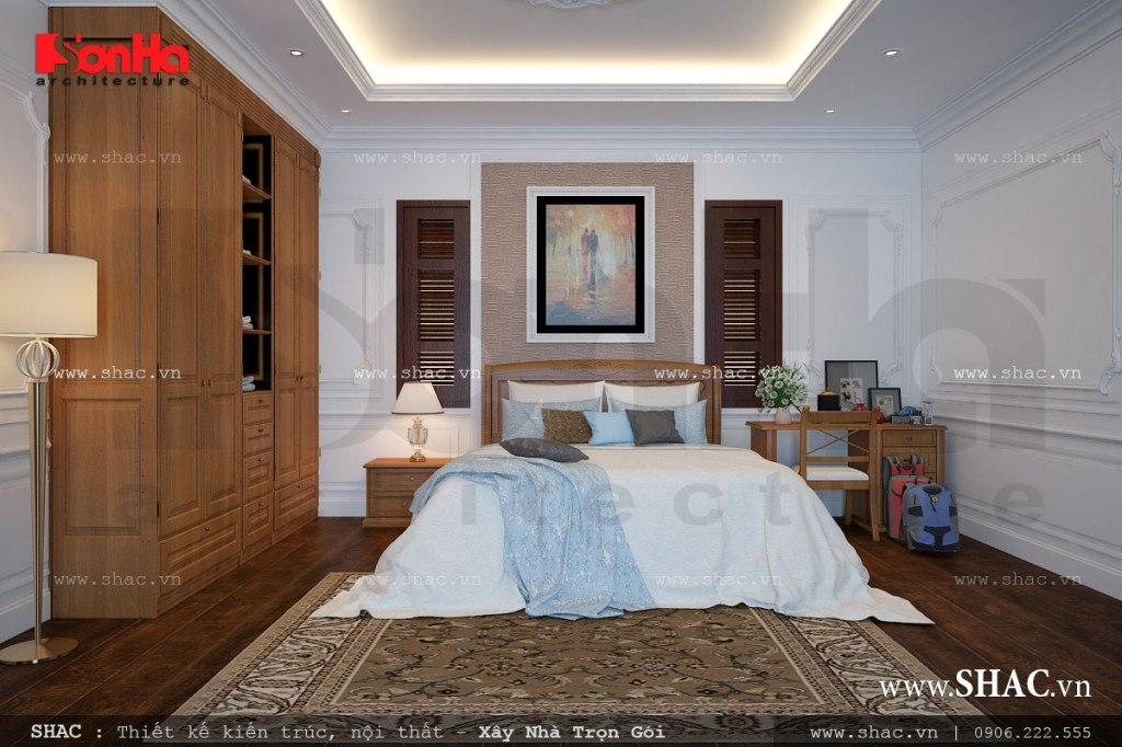 Mẫu phòng ngủ với nội thất đơn giản