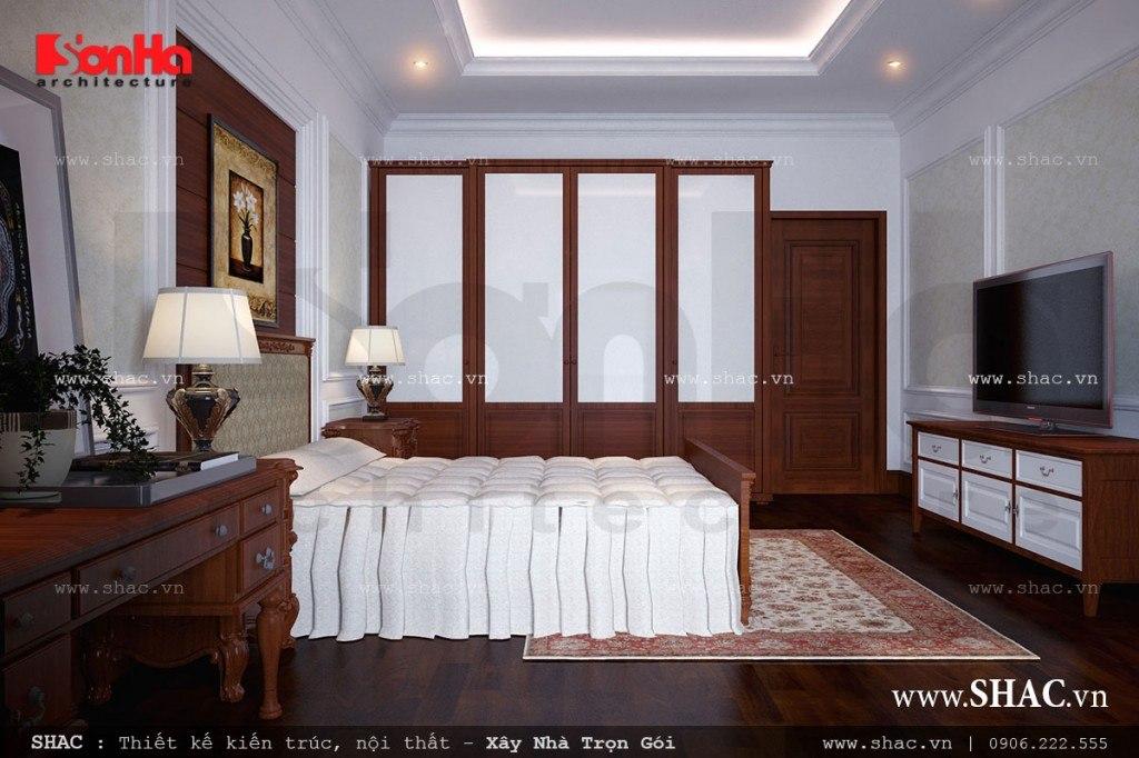 Thiết kế phòng ngủ với nội thất gỗ đẹp