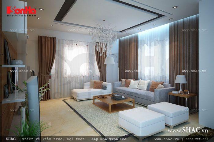 Không gian phòng khách giúp bạn cảm nhận được sự ấm cúng, mang đến những phút giây thoải mái cho cả gia đình