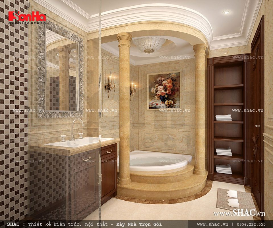 Nội thất phòng tắm hoành tráng