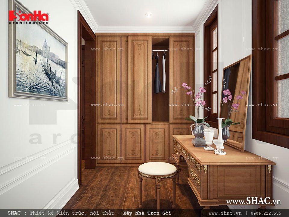Nội thất phòng thay đồ và trang điểm