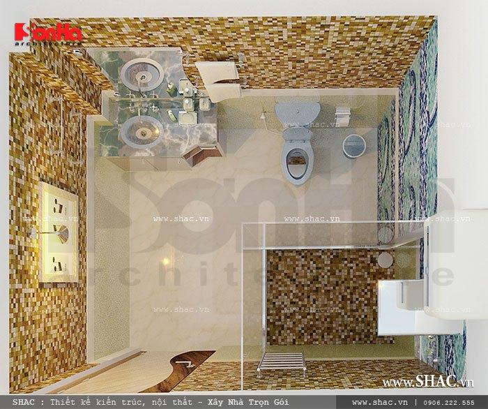 Phòng WC tiện nghi và sang trọng