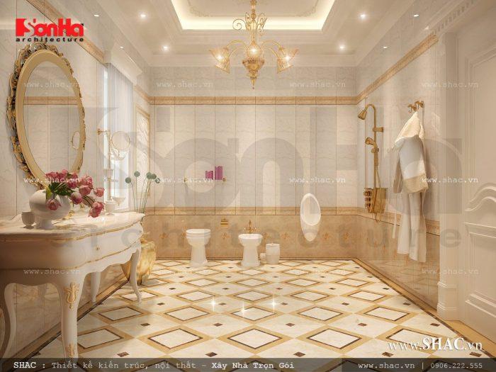 Mẫu phòng wc sang trọng được thiết kế nội thất Pháp đẹp