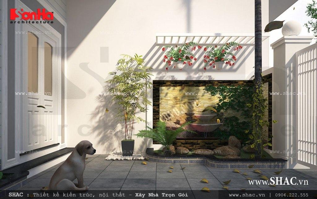 Sân vườn nhà ống