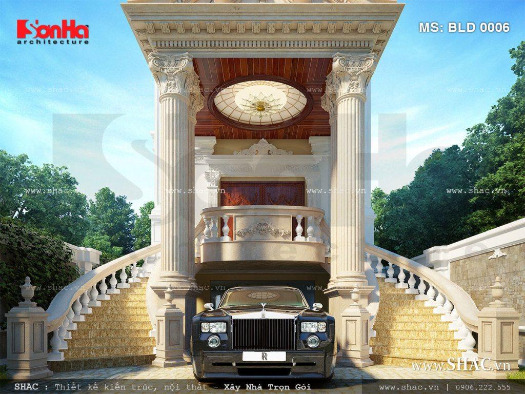 Thiết kế sảnh biệt thự lâu đài đẹp