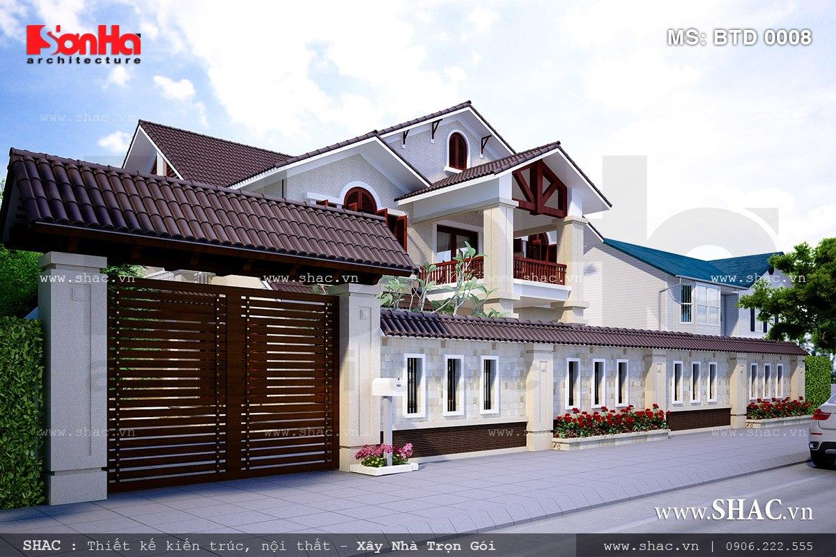 Biệt thự 2 tầng kiến trúc hiện đại - BTD 0008 4