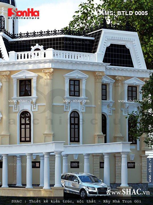Thiết kế biệt thự lâu đài với kiến trúc Pháp cổ điển