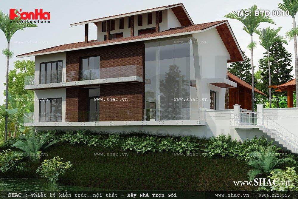 Thiết kế kiến trúc biệt thự sân vườn đẹp