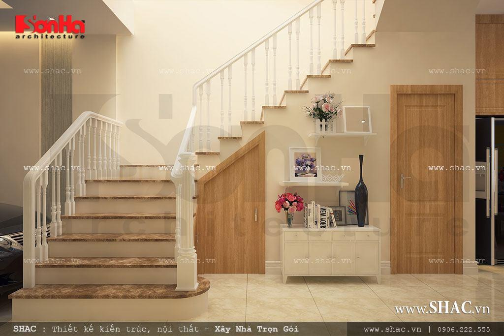 Mẫu thiết kế cầu thang đẹp cho nhà lô