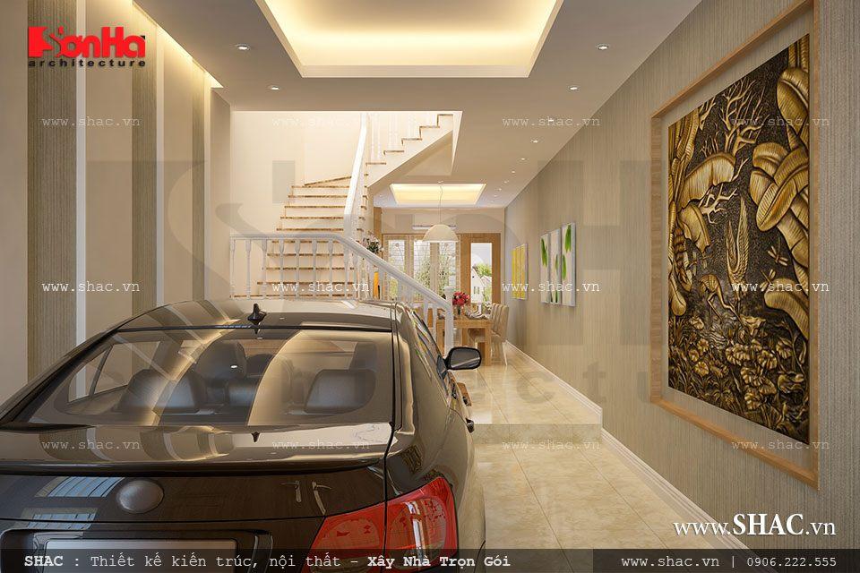 Mẫu thiết kế gara ô tô nhà phố
