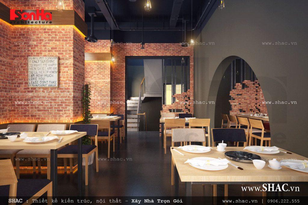 Thiết kế không gian nhà hàng ăn uống đẹp