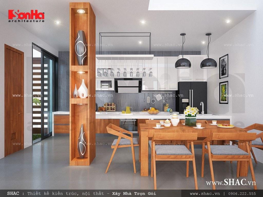 Phòng ăn hiện đại đẹp