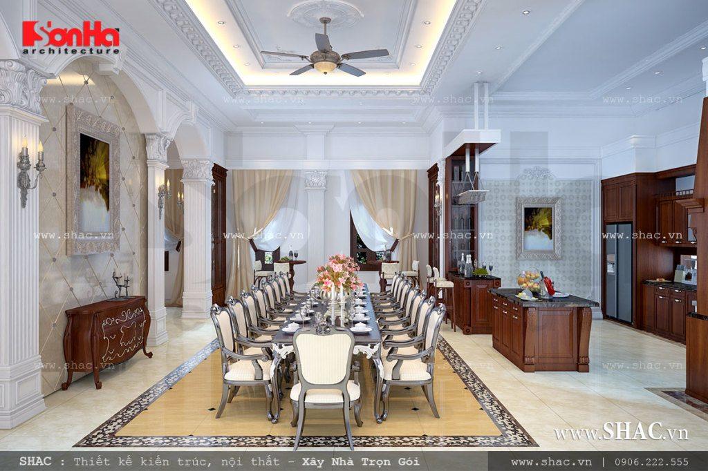 Thiết kế phòng ăn sang trọng và cổ điển