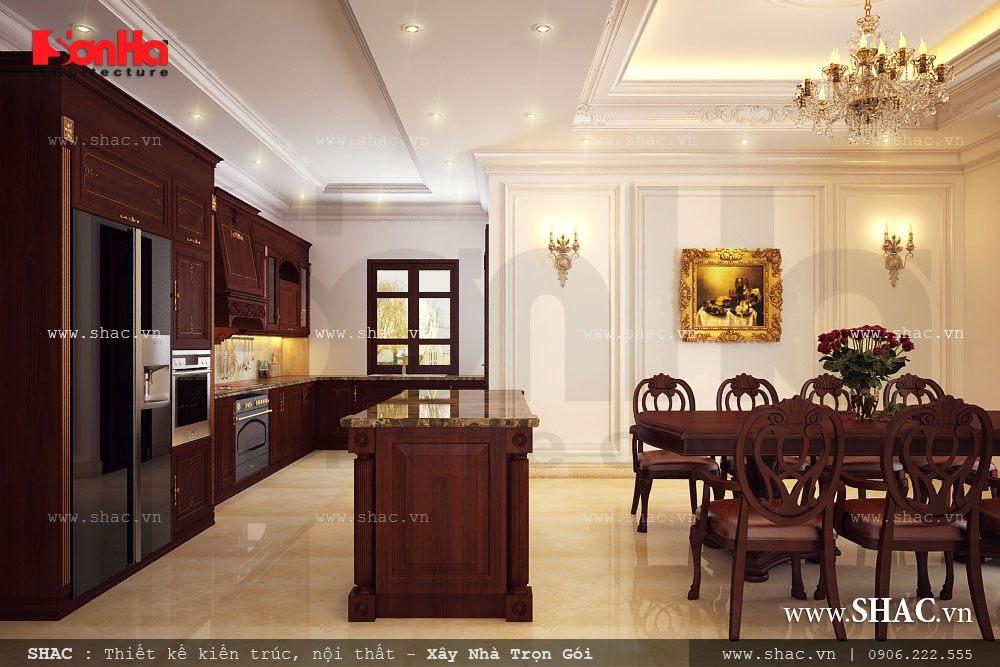 Thiết kế phòng bếp ăn cho biệt thự