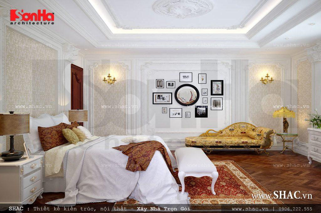 Phương án thiết kế nội thất phòng ngủ cổ điển sang trọng rất được chủ đầu tư yêu thích