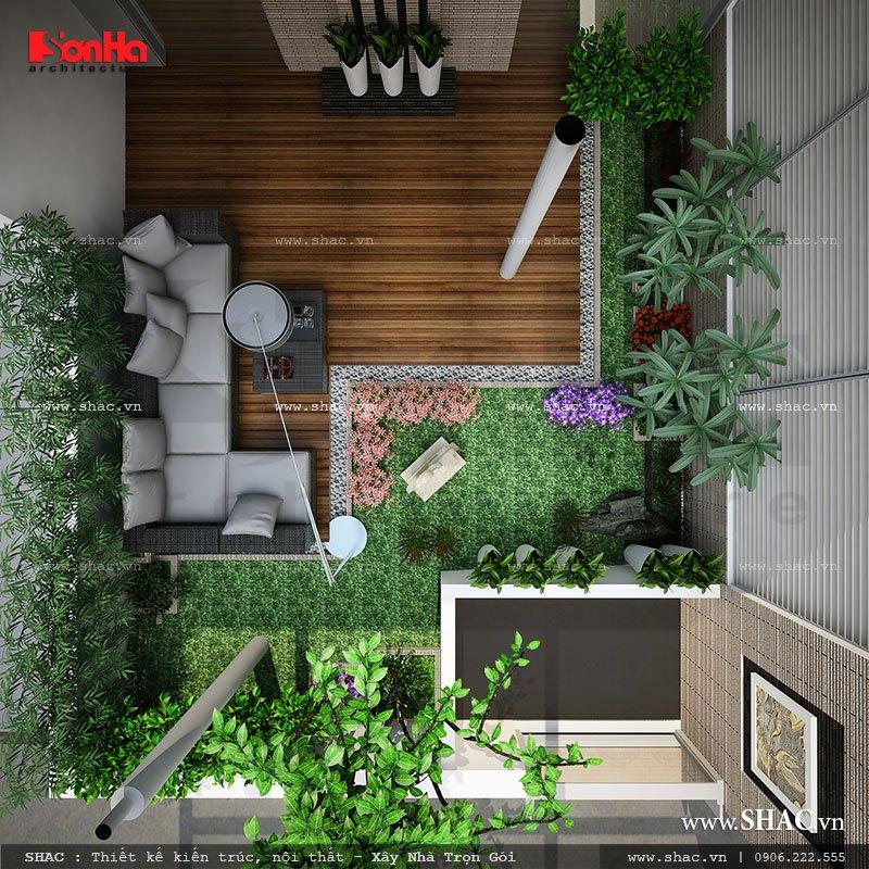 Thiết kế nhà ống 3,5 tầng theo kiến trúc hiện đại - NOD 0063 14