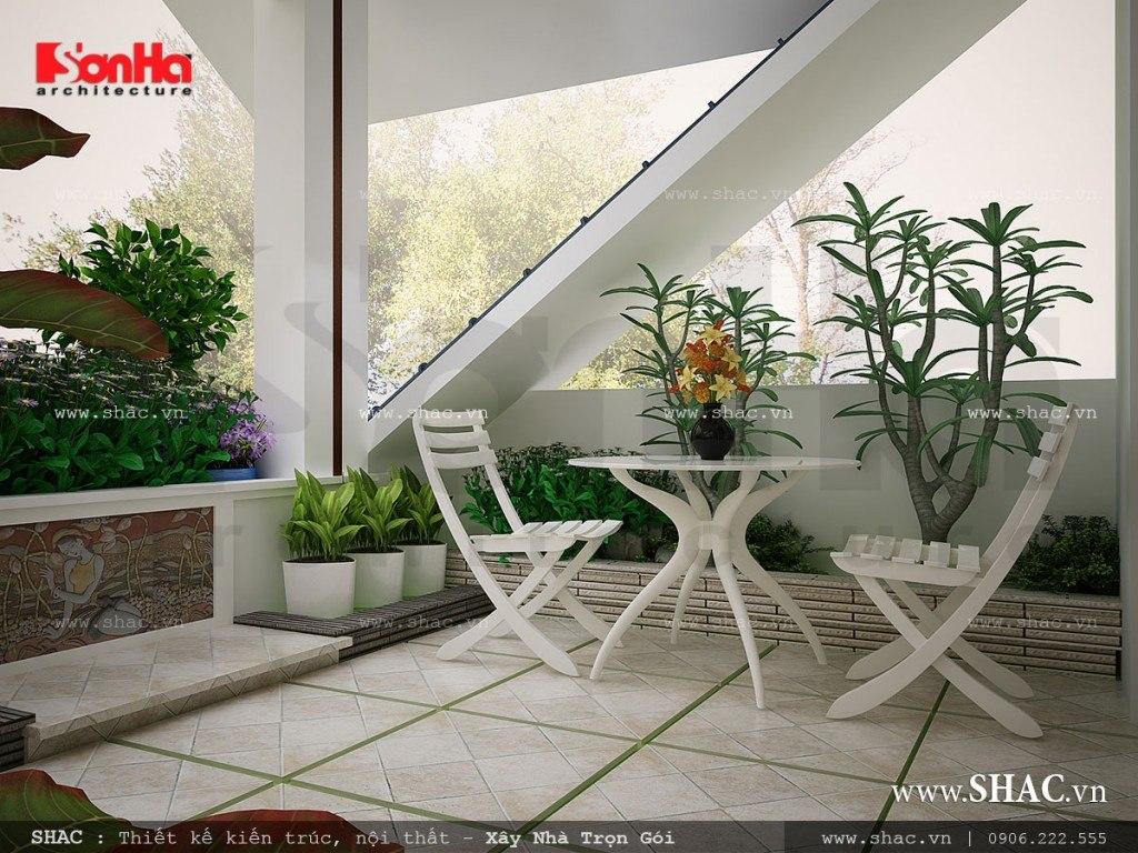 nội thất sân vườn tiểu cảnh sang trọng cho nhà phố