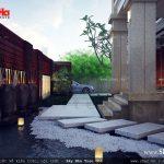 Thiết kế tiểu cảnh nước cho biệt thự