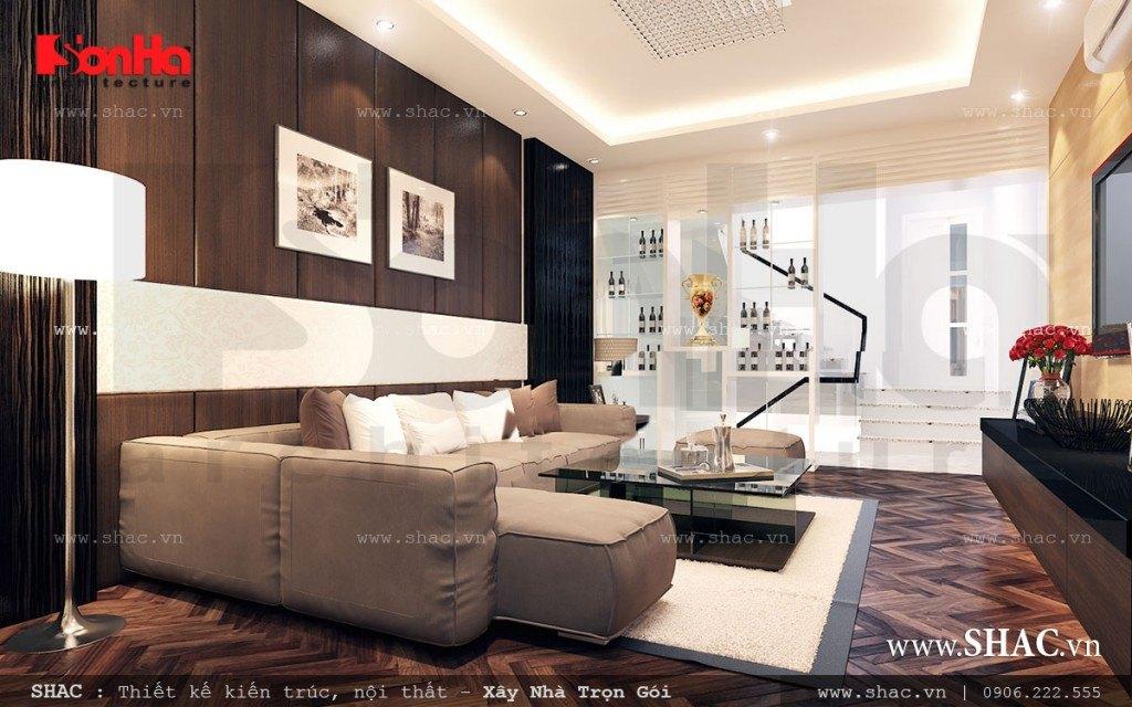 Mẫu phòng khách đẹp kiểu hiện đại