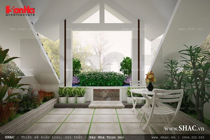 thiết kế sân vườn tiểu cảnh nhà phố