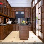 Thiết kế tủ bếp bằng gỗ