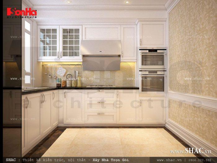 Thiết kế khu bếp nấu của khách sạn tiêu chuẩn 1 sao thoáng đãng, ngăn nắp và tiện dụng với việc chế biến thực phẩm cho cả khách sạn